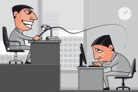 Working under the boss pressure